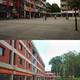 Top: Chandigarh shopping district Bottom: Gandhinagar shopping along the thoroughfare