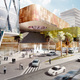 Rendering of the podium and entry plaza (Image: Söhne & Partner Architekten and BET Architects)