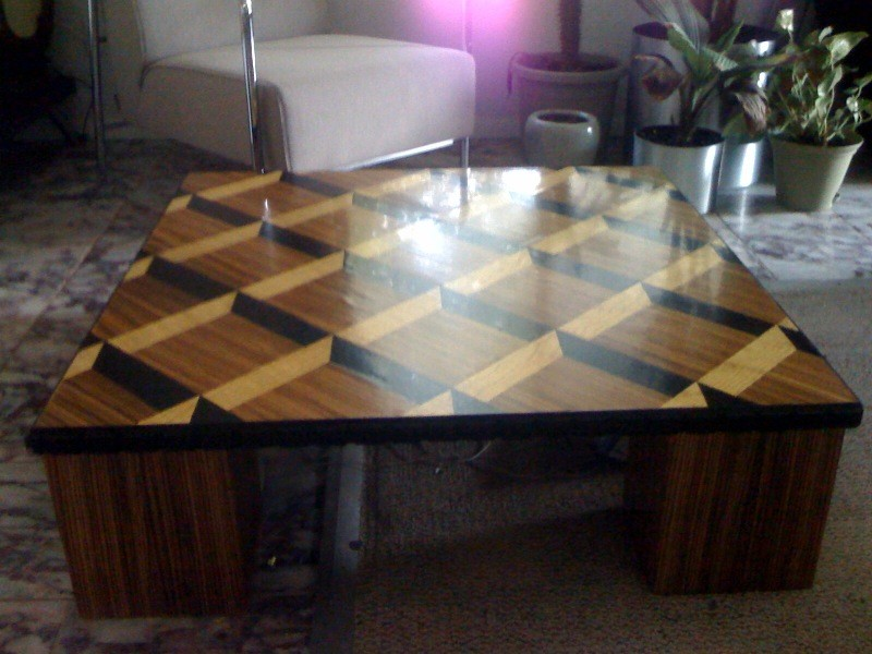zebra wood coffee table | roy senior,jr | archinect