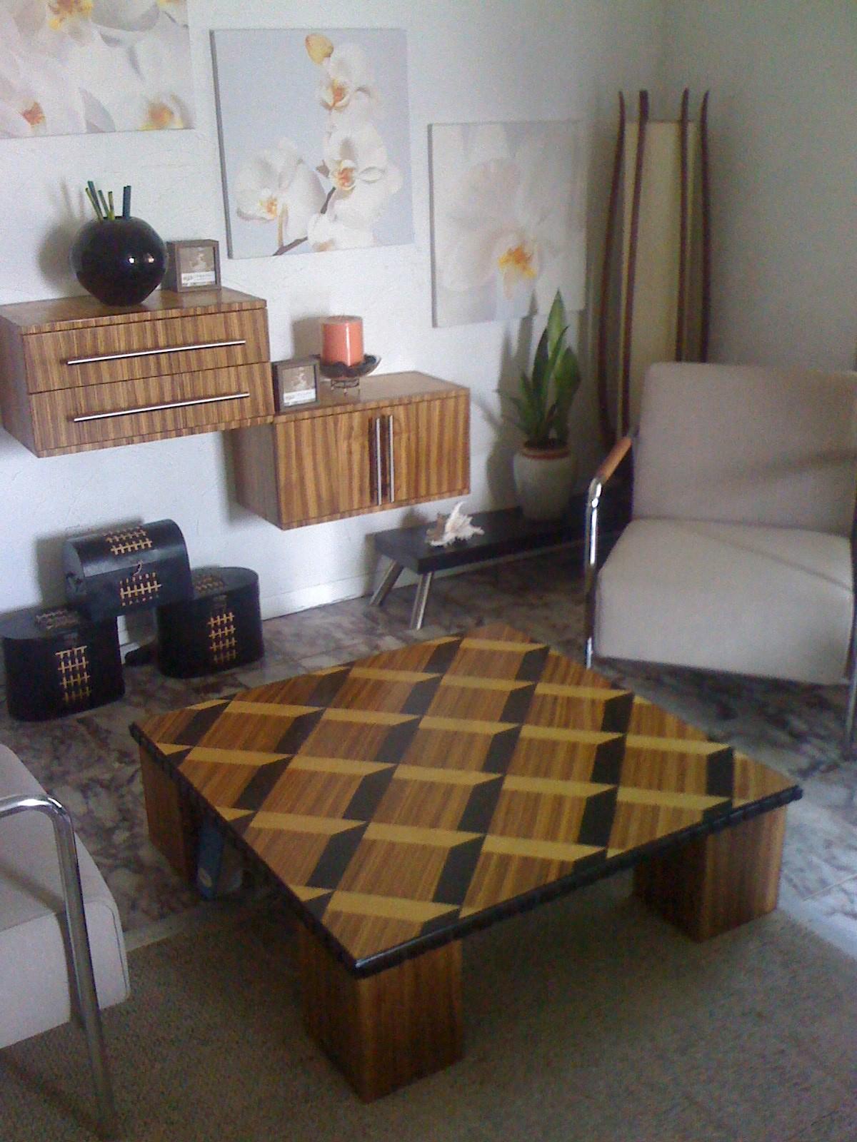 zebra wood coffee table | roy senior,jr | archinect