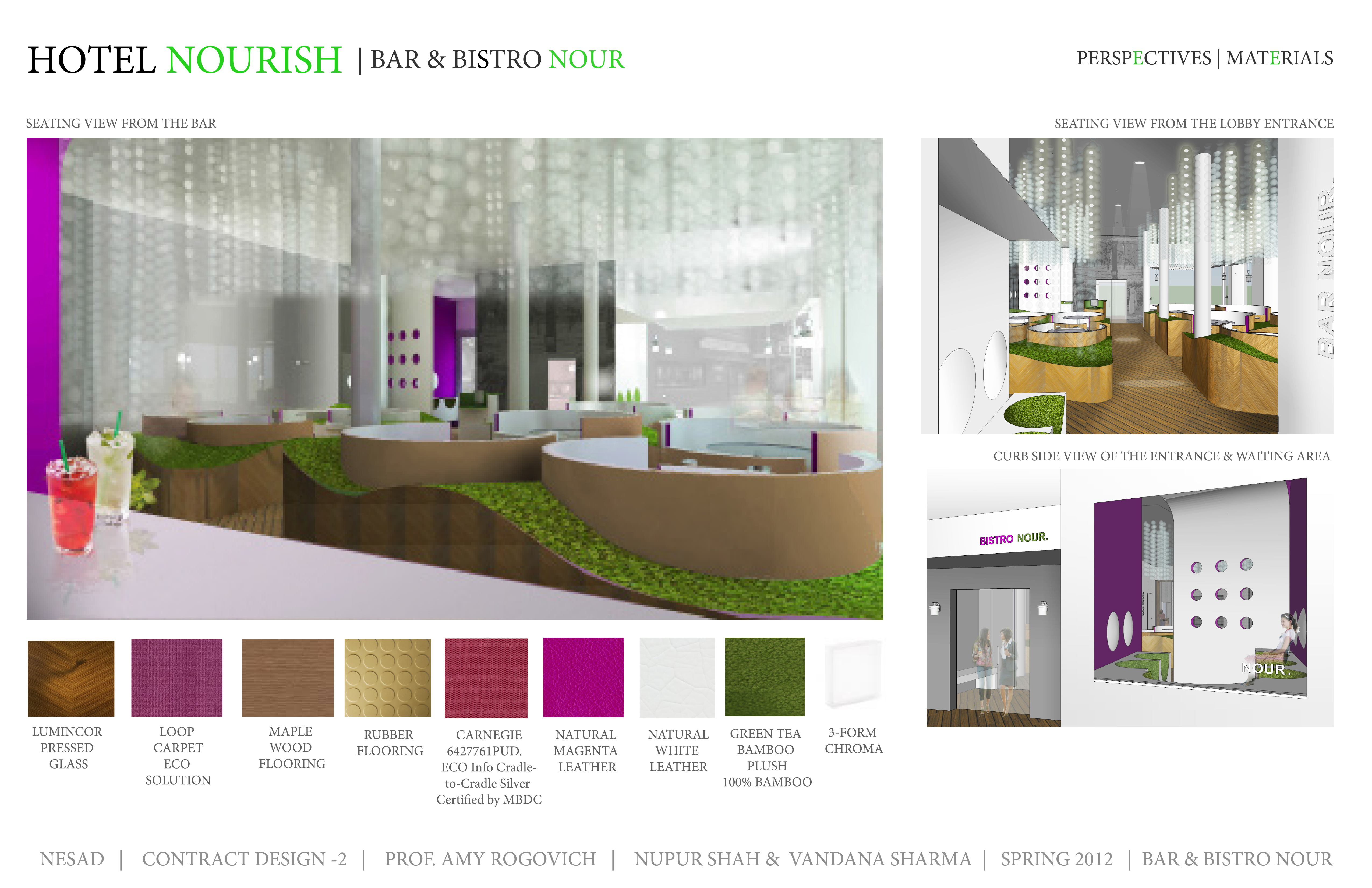 hotel nourish- lobby, bistro, guestrooms (1st runner up a'design
